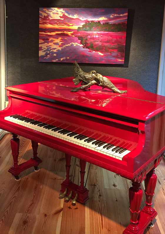 the real red piano